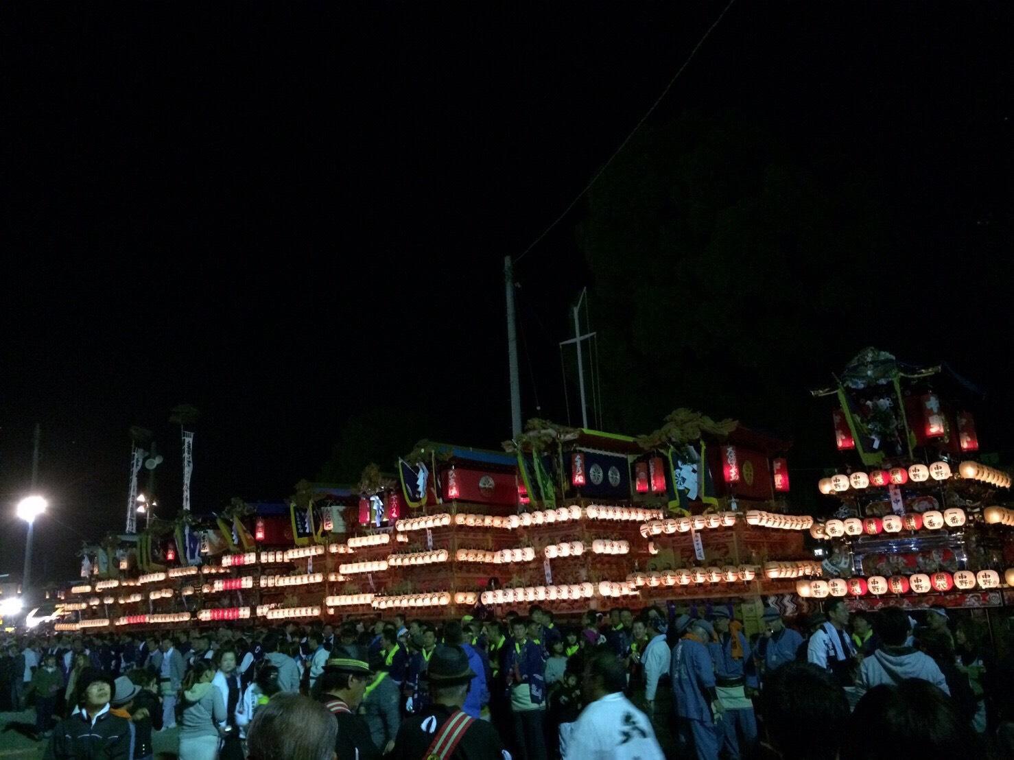 夜の西条祭り